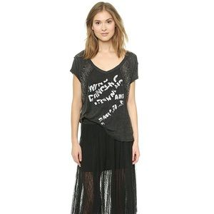 NWT Free People Graphic Embellished Tee